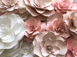 pink blush white paper flowers