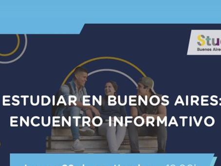 """""""Estudiar en Buenos Aires: Encuentro Informativo"""" Webinar"""