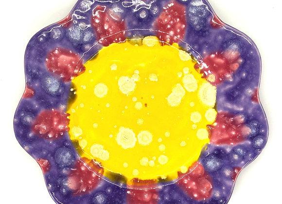 Flower Plate Crystal Glazed