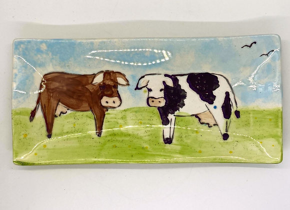 Wavy Plate Cow Design