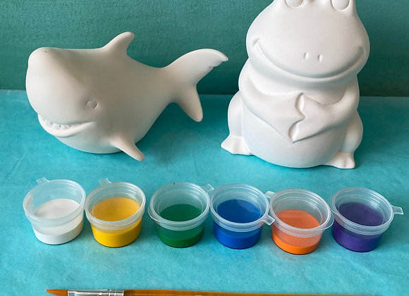 Frog Bank & Shark Kit