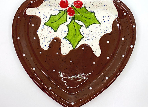 Heart Shaped Pudding Plate