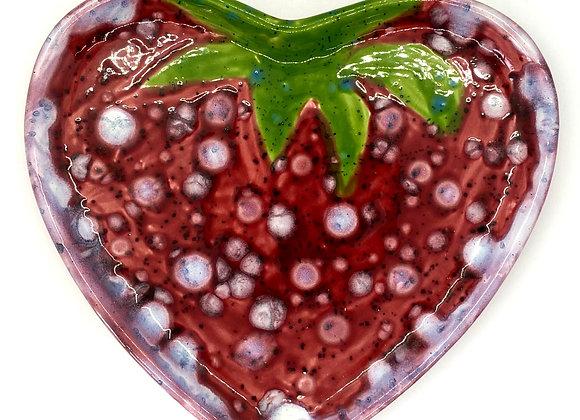 Heart Plate Crystal Glazed