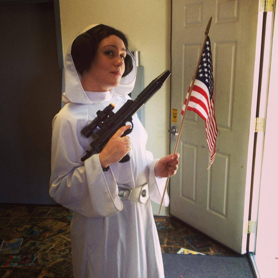 Patriotic Princess Leia