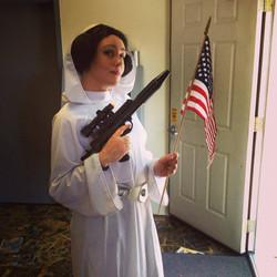 Patriotic Princess Leia