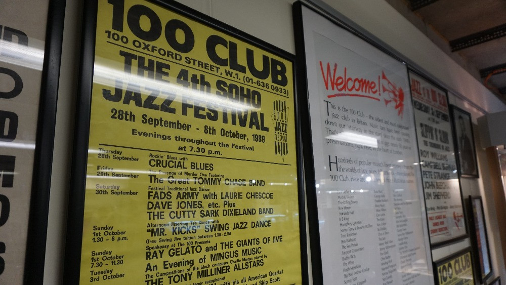 100 Club Posters at The Jazz Centre UK