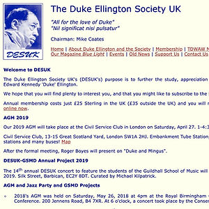 Duke Ellington Society Reference