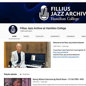 Fillius Jazz Archives reference