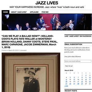 Jazz Lives Reference