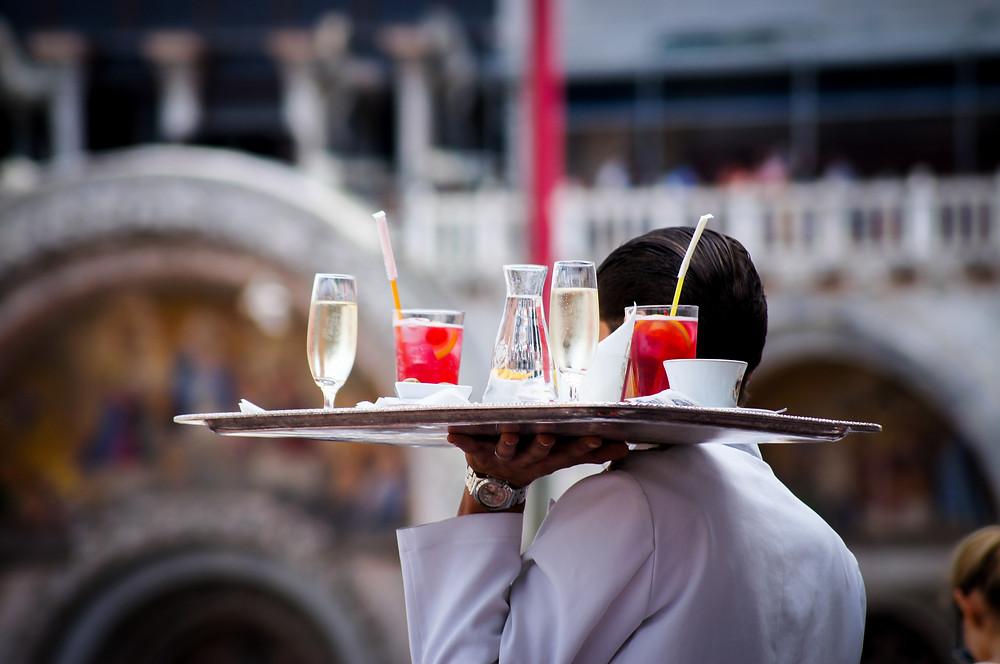 wedding server food staff waiter