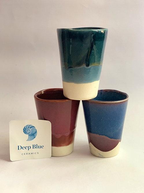 Deep Blue Ceramics Conical Cup