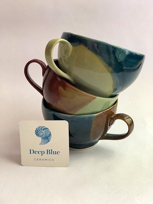 Deep Blue Ceramic Mug