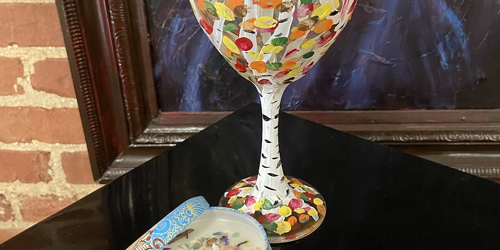 Candle Making Wine Glass Painting 8/31