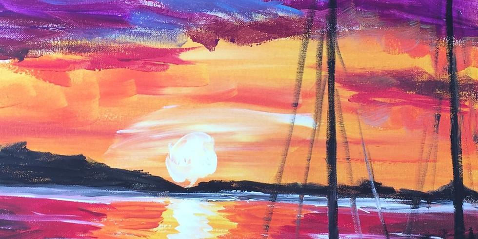 Sunset Sailboats 8/14