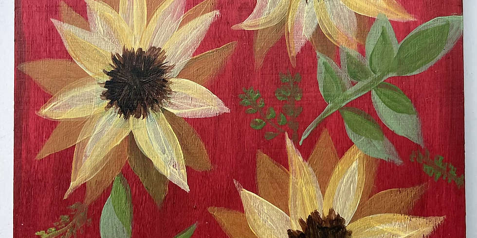 Sunflowers w/Ur Fav Color Background
