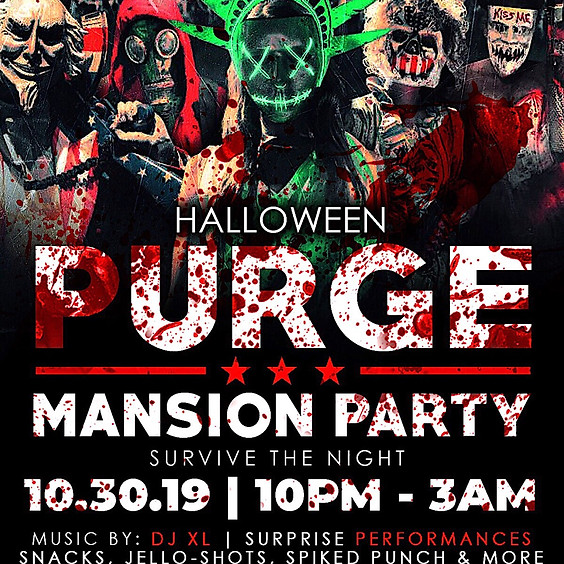 🔪🔥HALLOWEEN PURGE MANSION PARTY