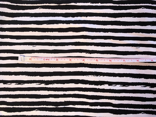 Michelle's HALF YARD cut of BW Grunge Stripes  -French Terry
