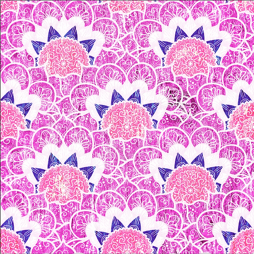 Michelle's 1 yard cut of Pink Mandala - Bamboo Lycra