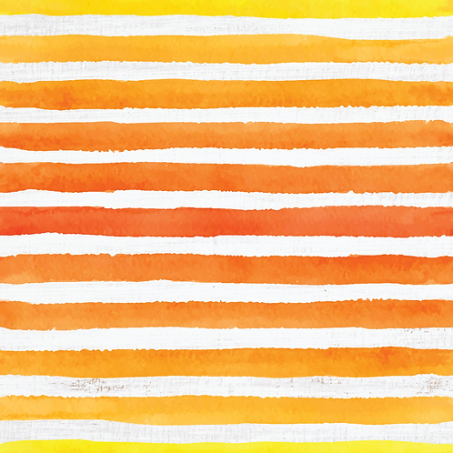Michelle's **FAT HALF Cut** Orange Veggie Stripes on Rustic White - Cotton Lycra