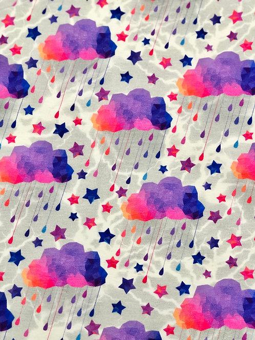 Michelle's Purple/Pink Acid Rain on Lightning - Cotton Lycra