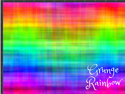 Erica's *1 Yard Cut* Rainbow Grunge - Cotton Lycra