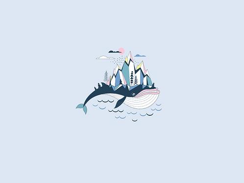 PRE-ORDER Arctic Whale Child Panel- Cotton Lycra