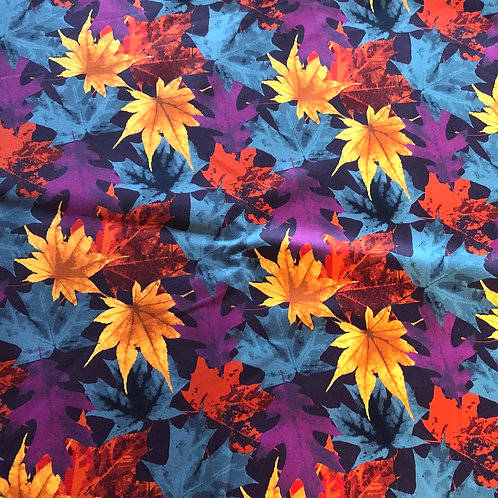 Michelle's Webs 1 Yard cut of Fall Leaves - Premium Cotton Woven