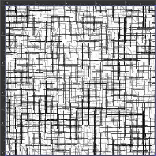RE-PRINT Black and White Grunge Grid