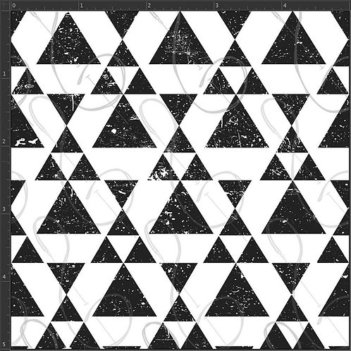 Michelle's 1 yard of BW Triangles - Cotton Lycra