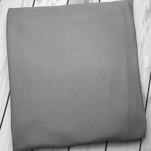 "Erica's Solid Steel Grey Premium Cotton Lycra 13-14oz 75""wide"