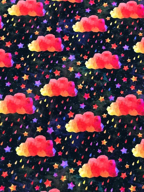 Erica's Orange Acid Rain on Black- Cotton Lycra