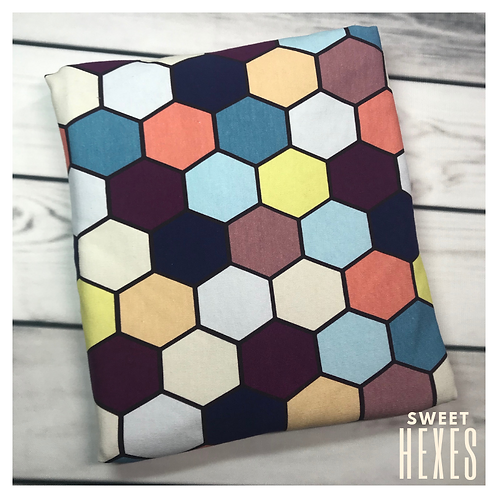 Michelle's **1 YARD** Sweet Hexes -Cotton French Terry