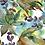 Thumbnail: Michelle's 1 Yard cut of Botanical Splash - Cotton Lycra