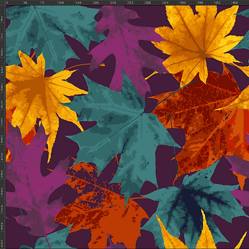 Michelle's 1 Yard cut of Fall Leaves - Cotton Lycra
