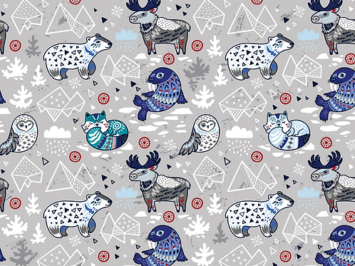 Michelle's **1 Yard** Arctic Animals -PUL