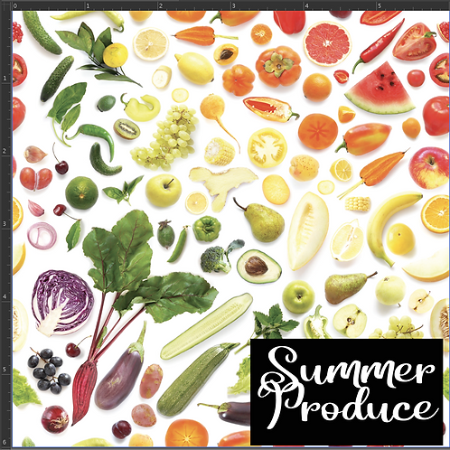 Michelle's *1 Yard Cut* Summer Produce - Woven