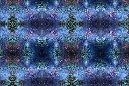 Michelle's 1 yard cut of Cosmic Nights- Cotton Lycra