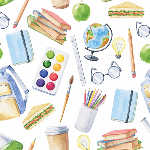 Michelle's FAT HALF CUT of School Supplies - Cotton Lycra