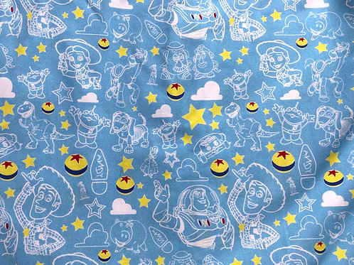Michelle's *1 yard* of Toy Squad Goals- Main Print - Cotton Lycra
