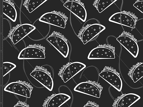 Michelle's 1 yard of BW Tacos - Cotton Lycra