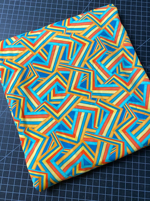 Erica's 1 yard cut Bright + Abstract-COTTON LYCRA