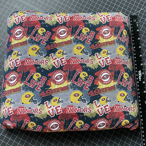 Erica's 1 yard cut 49ers Main Print-SMALL SCALE-Cotton Lycra