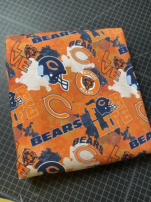 """Erica's 1 yard cut """"Da Bears"""" Main Print-Cotton Lycra"""