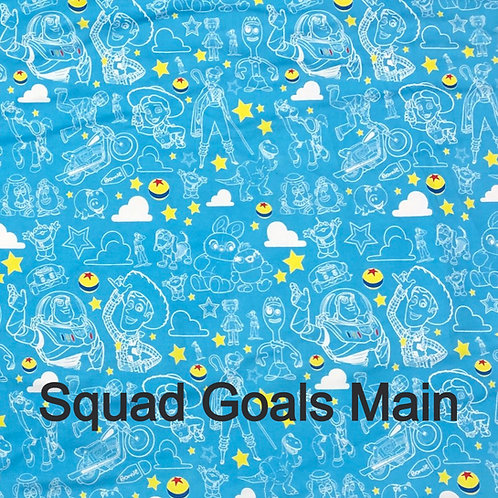 Erica's **1 yard** of Toy Squad Goals- Main Print - Cotton Lycra