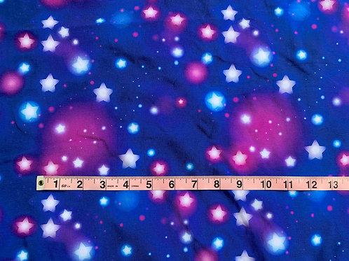 Erica's **1 YARD** Glow Stars-Cotton Lycra
