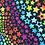 Thumbnail: Erica's **1/2 yard cut** Rainbow Stars- Cotton Lycra