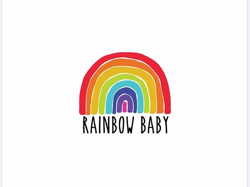 Michelle's **Child Panel** Rainbow Baby on White- Bullet