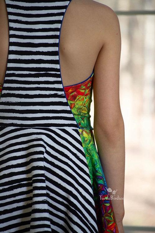 RE-PRINT Black and White Grunge Stripes