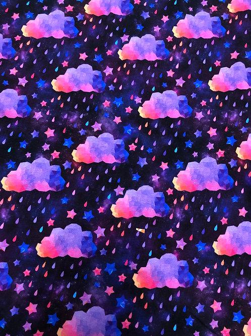 Michelle's Purple/Pink Acid Rain - Cotton Lycra