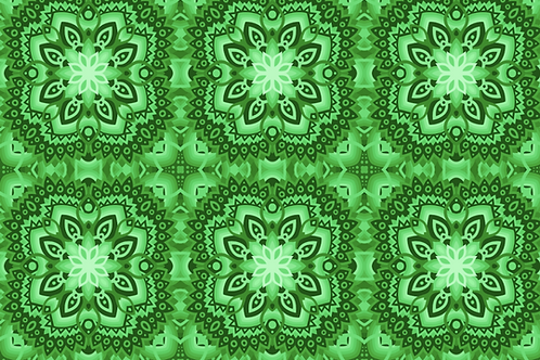 Michelle's *1 Yard Cut*  Lucky Kaleidoscope - Cotton Lycra